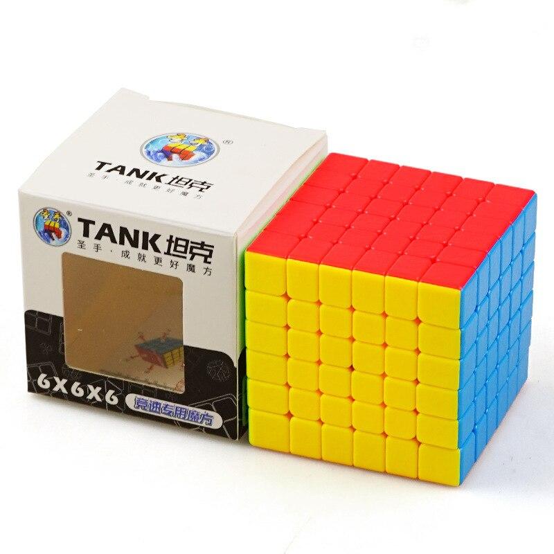 Velocidade 4x4x4 Shengshou Tanque Cubos sem Adesivo Cubo Velocidade Original Dança