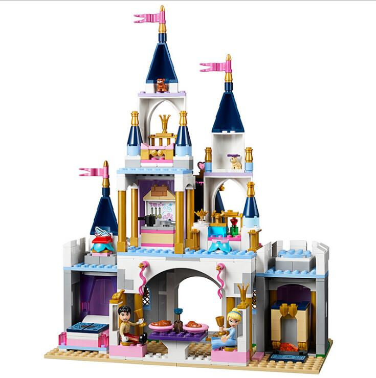 Lepin 25014 Girl Series Cinderella The Dream Castle Set Building Blocks Toys For Kids Gifts Compatible LegoINGlys 41154 the girl with all the gifts