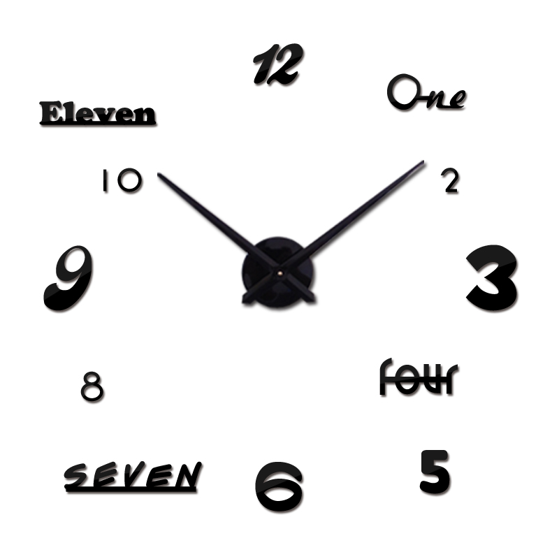 Sıcak satış duvar saati reloj de pared akrilik ayna saatler avrupa diy 3d çıkartmalar büyük dekoratif kuvars İzle oturma odası