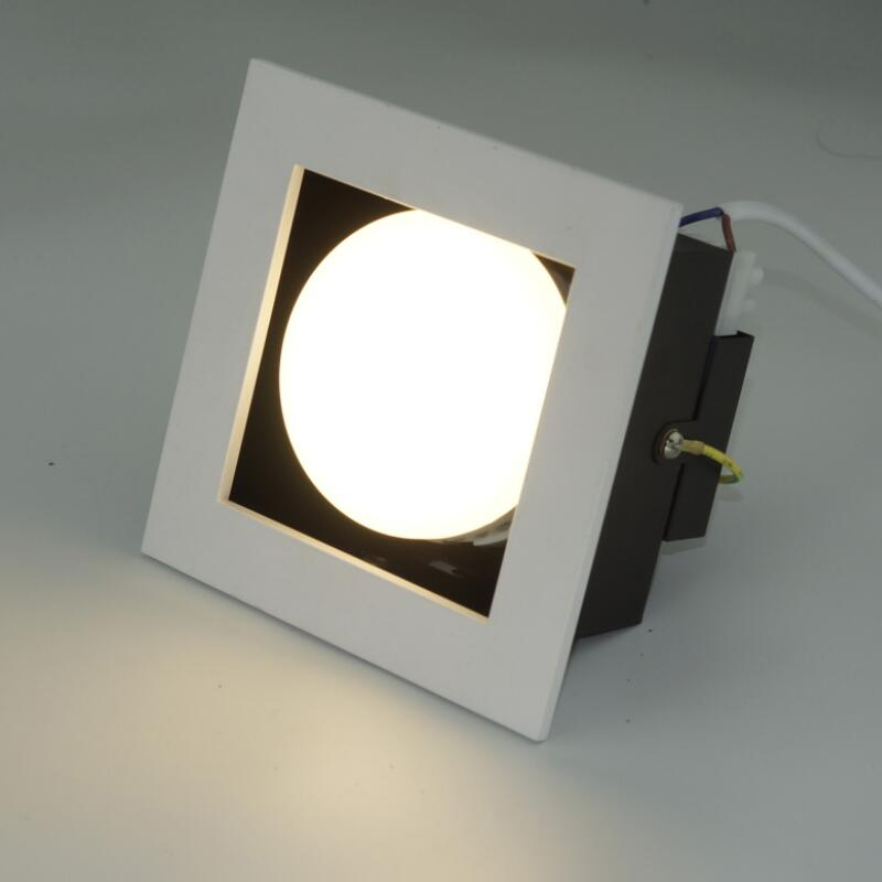 Square 1head GX53 LED Downlights 10W LED Ceiling Lamps Spot Light LED Downlights AC85V 265V