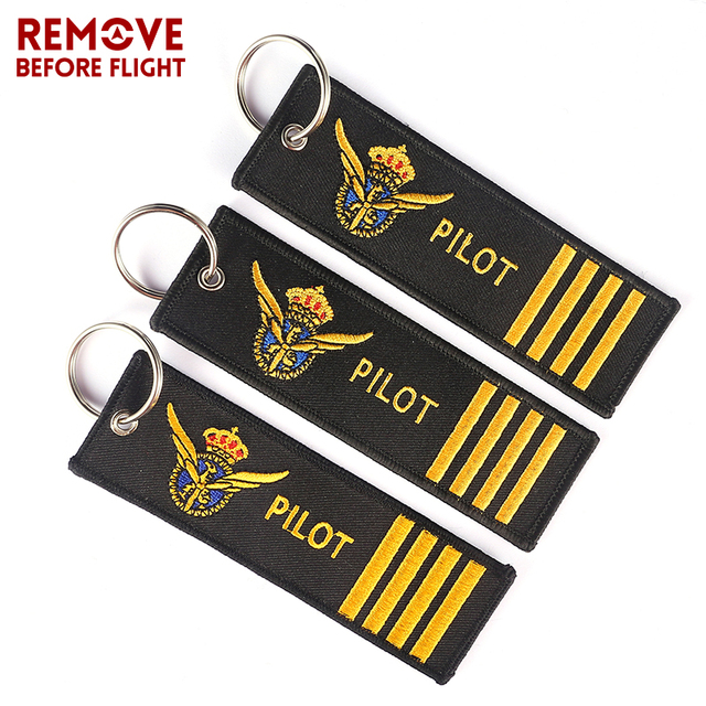 3 PCS/LOT Pilot Key Chain