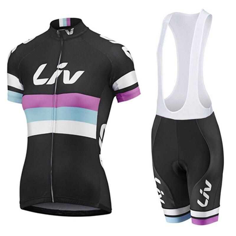 リヴサイクリングジャージ女性 mtb サイクリングジャージショーツ自転車シャツ自転車スポーツバイク Ciclismo サイクル服  グループ上の スポーツ & エンターテイメント からの サイクリングセット の中 1