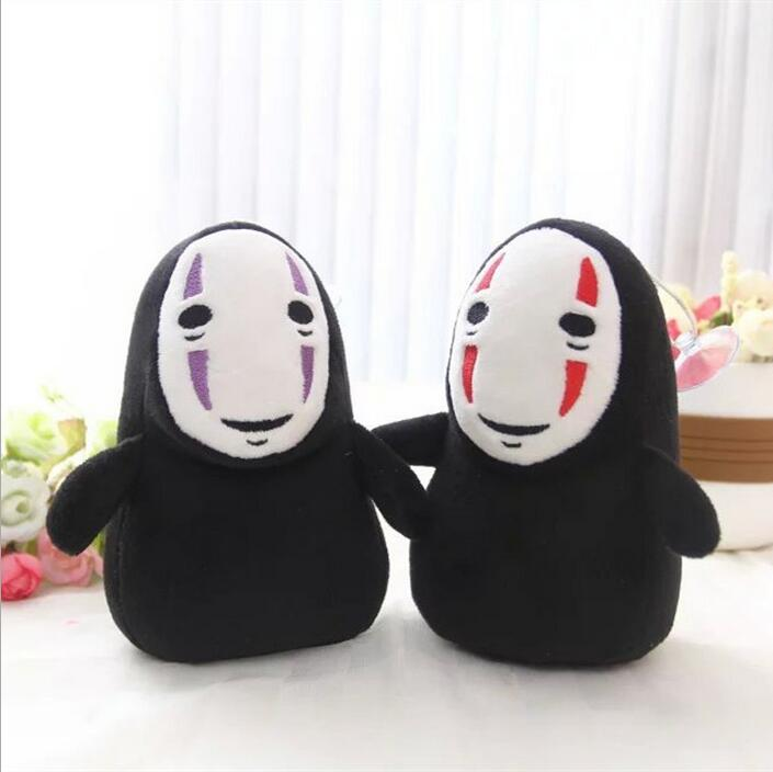 1pcs 15cm SPIRITED AWAY pendant faceless Man Black No Face Gost Plush Collectible Anime Character Chain Bag Toys Doll a spirited resistance