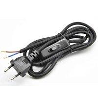 1 8M 2x0 75mm2 Lamp Switch Wire EU Plug AC Lamp Power Cord With 304 Switch