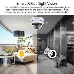 Image 4 - Techage 1080p 2mp dome poe câmera 48v rede hd onvif cctv vigilância de vídeo segurança em casa p2p ir cortar câmeras ip visão noturna