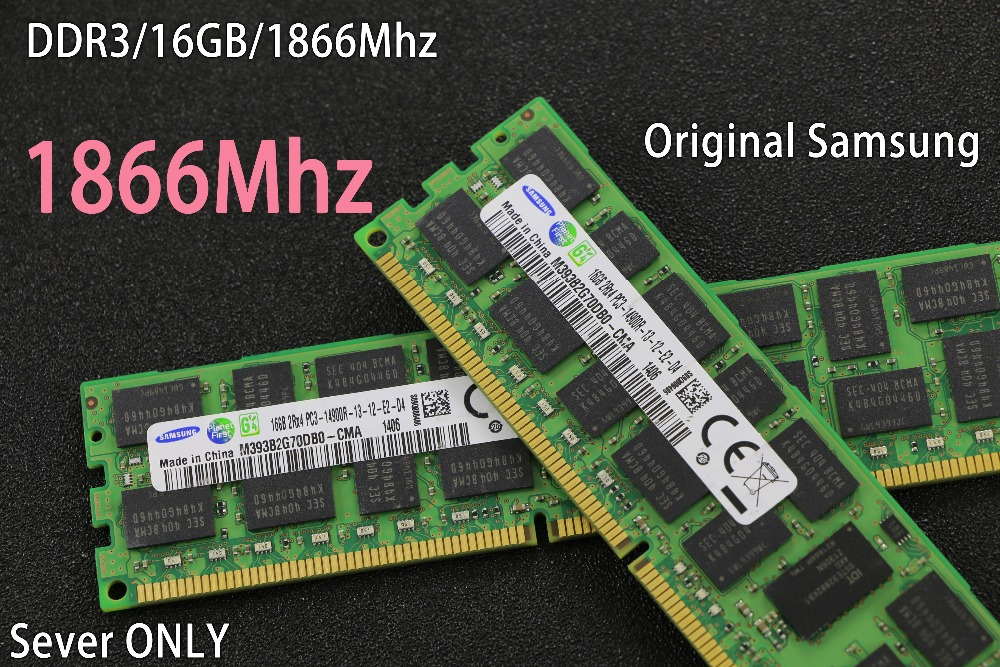 D'origine Samsung Serveur RAM 8 gb 16 gb DDR3 1866 mhz 8g 16g 1866 REG ECC serveur mémoire RAM 16 gb 16g 32 gb 32g X58 X79 2011 1366
