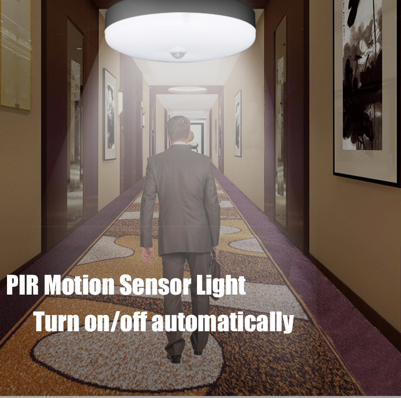 Smart PIR Motion Sensor Night Light Modern Led Ceiling Lights Lamp 220v 12/18w Suface Mounted For Home Lighting Kitchen Fixture
