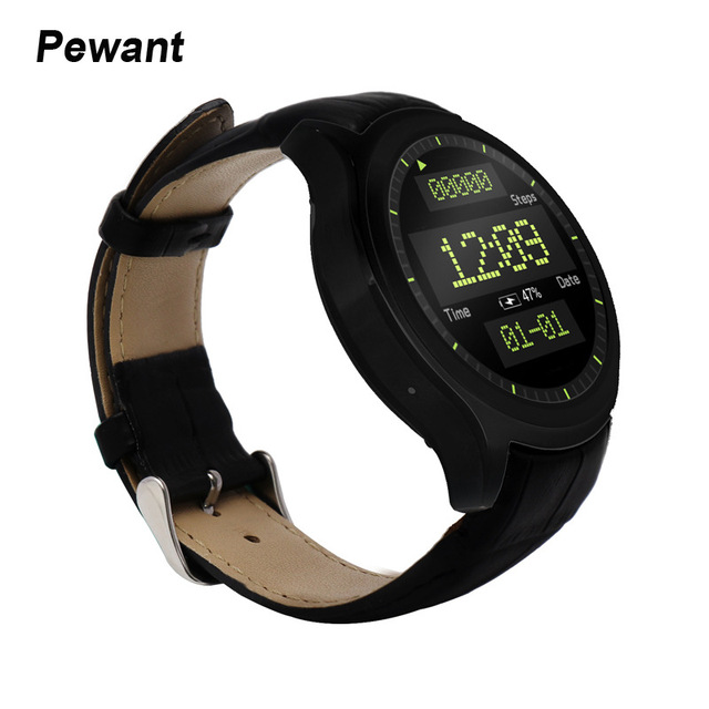 2017 Pewant Android 5.1 Smart Watch MTK6580 1 ГБ RAM 8 ГБ ROM Heart Rate Monitor GPS Скачать ПРИЛОЖЕНИЕ 3 Г Smartwatch Для Android IOS