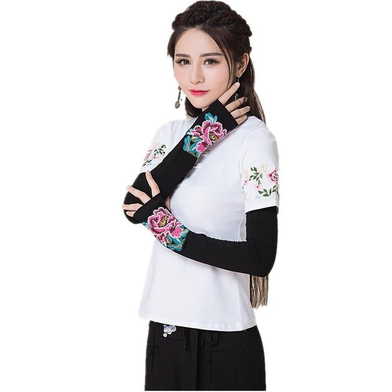 2017 fashion embroidery ladies tactical elegant guantes gants femme spring autumn vintage style. Black Bedroom Furniture Sets. Home Design Ideas