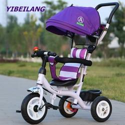 Kinderen driewieler Fiets 1-3-5 jaar oude trolley peuter Baby Buggy Wandelwagen Lopen Speelgoed