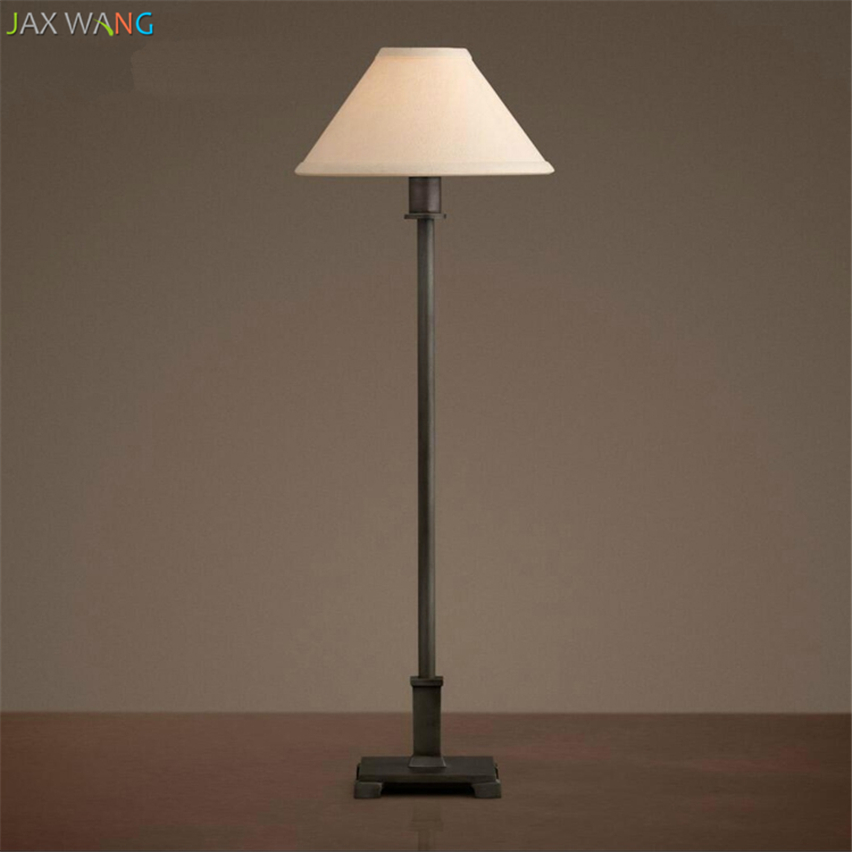 Jw Nordic Modern Old Linen Shade Led Table Lamps American