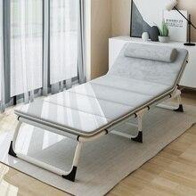 Многофункциональная складная кровать, односпальная кровать, домашняя кровать для взрослых, ланч-кровать для отдыха, Офисная Простая кровать, сопутствующая походу