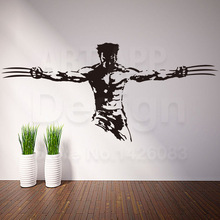 2019 new design vinyl Wolverine wall sticker home decoration cheap cool house decor X-Men Logan removable PVC decals in rooms 26cm wolverine figure logan x men x men play arts kai wolverine james logan howlett play art kai pvc action figure