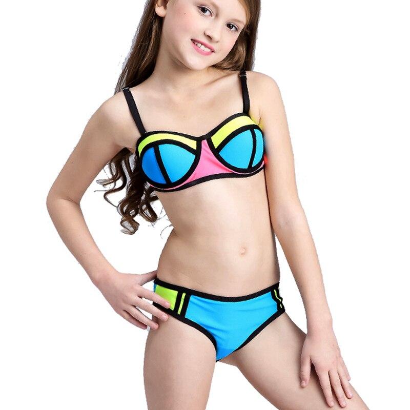più economico d2741 4e820 US $9.42 39% di SCONTO|Patchwork Costume Da Bagno Delle Ragazze del Bikini  Bambini 2018 Bambino Costumi Da Bagno per le Ragazze Adolescenti Bambini ...