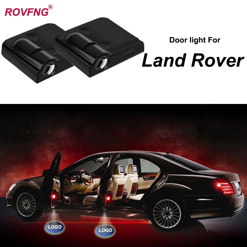 2x LED 3D Logo door laser Projector light For Range Rover Land Rover Discovery