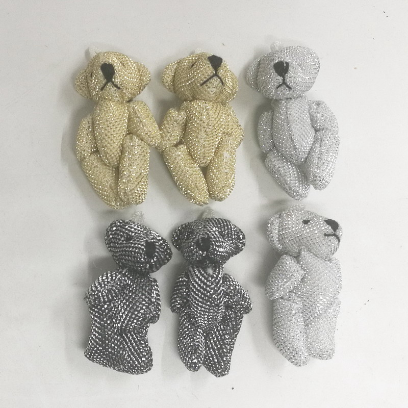 Wholesale 100pcs Mini 4 5CM Shapes Small Bear Animal Stuffed Plush toy Mini Bear accessories plush
