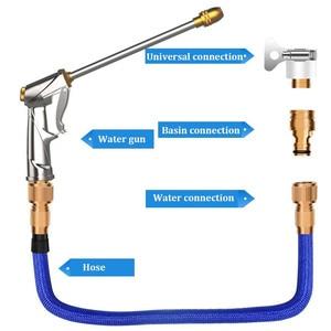 Image 2 - Pistolet à eau tuyau darrosage buse réglable tuyau magique télescopique haute pression Machine à laver jardin fleur pulvérisateur de nettoyage