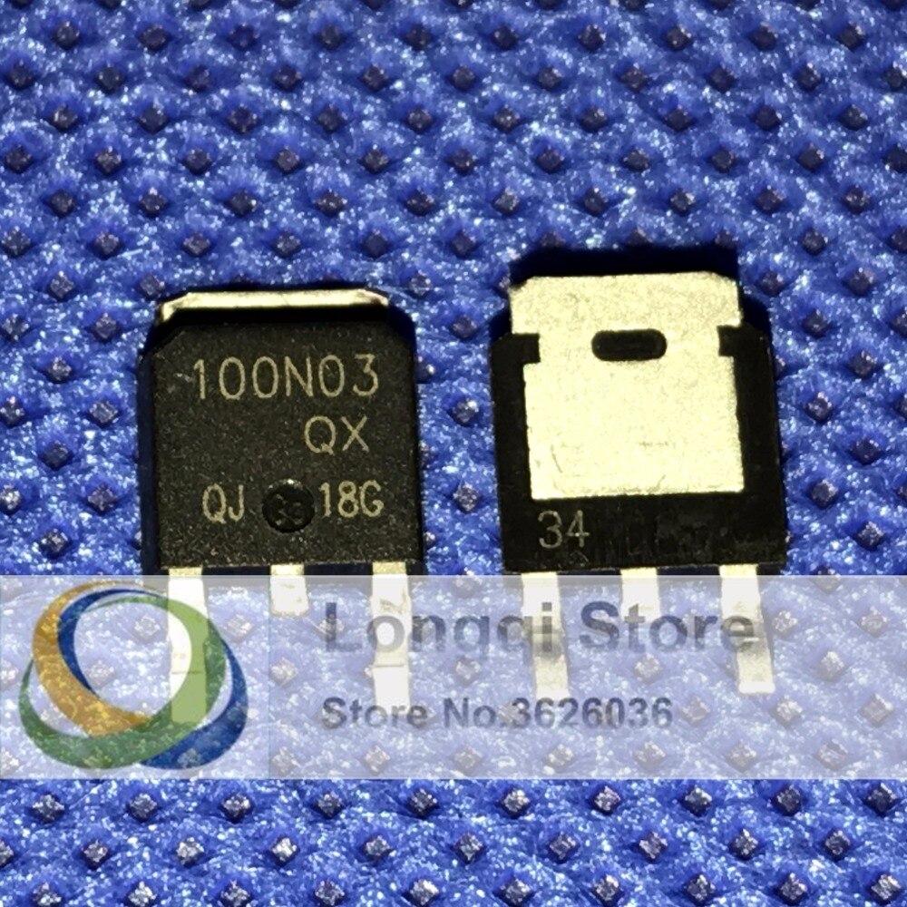 10PCS 100N03 TO-252  N-Ch Enhancement Mode Power MOSFET NPN 100A 30V