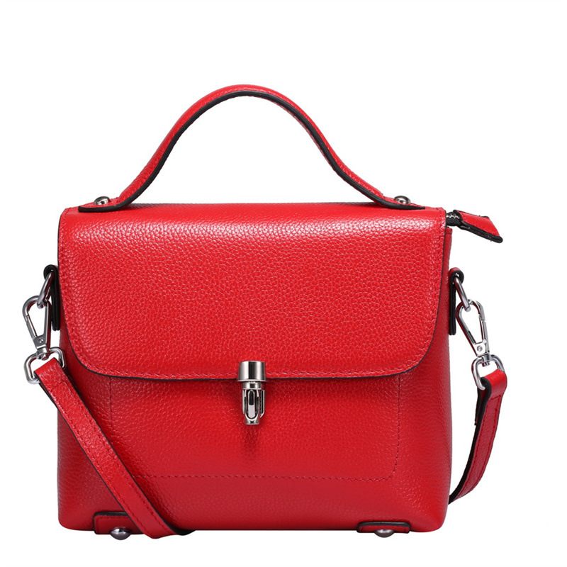 Nesitu High Quality Red Black Blue Grey Genuine Leather Small Women Messenger Bags Handbag Cross Body Women Shoulder Bag #M0753 2018 new hot item high quality women handbag genuine leather bags women messenger bag vintage women bag shoulder cross body bags