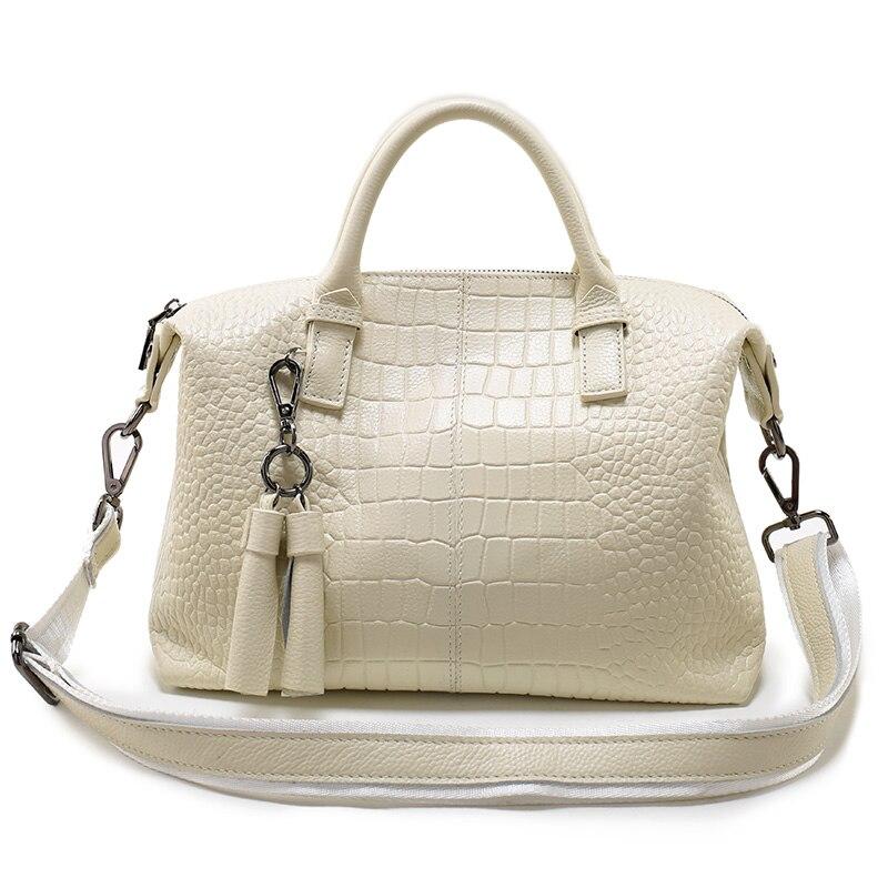 crocodile Tassel style luxury handbags women bags designer neverfull shoulder bags genuine leather Beige Many colors available