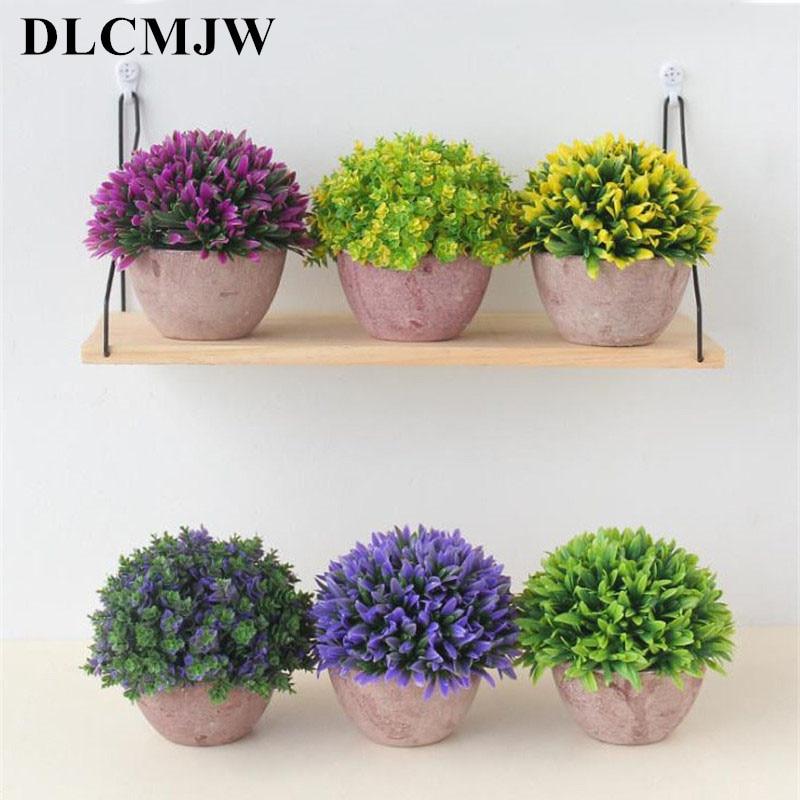 Fake Artificial Plant Plastic Mini Milan Flower Grass Office Home Decor DIY