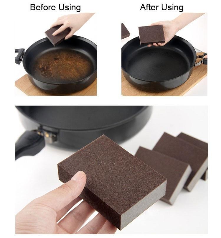 3pcs/lot 100*70*25mm High Density Nano Emery Magic Melamine Sponge For Cleaning Homeware Kitchen Sponge Removing Rust Rub