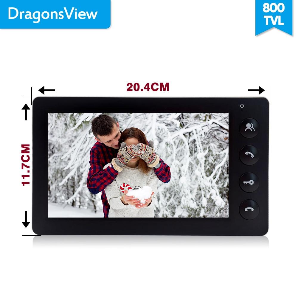 Dragonsview 7 pulgadas Video de la puerta del sistema de intercomunicación teléfono Blanco/negro de Video de la puerta de entrada Panel intercomunicadores para casa privada llamada panel - 3