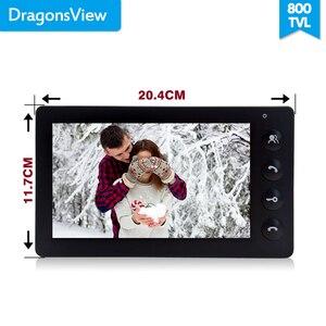 Image 3 - Dragonsview système dinterphone vidéo de porte de 7 pouces, blanc/noir, interphone pour ouverture privée