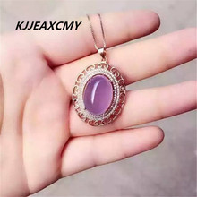 цена KJJEAXCMY boutique jewelry, Natural ice chalcedony pendant female S925 sterling silver jewelry wholesale онлайн в 2017 году