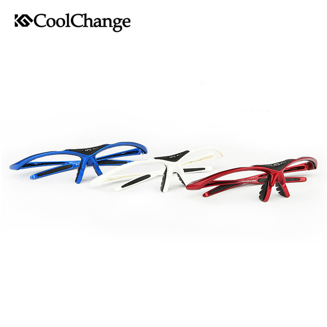 2017 Coolchange Bicycle Glasses Polarized Sunglasses Ballistic Goggles 5 Groups of Lenses Cycling Eyewear Present Myopia Frame