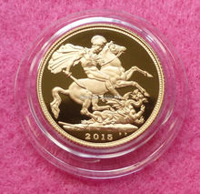 2015 Elizabeth II Gold Double Sovereign Coin 5pcs/lot Free shipping