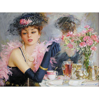 Frameless Beautiful Bride DIY Painting By Numbers Home Wall Art Picture Hand Painted Vintage Figure Painting