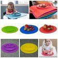Новый Малышей Детские Дети Пищевых Столовых Цельный Силиконовые Разделить Блюдо Чаша Пластины