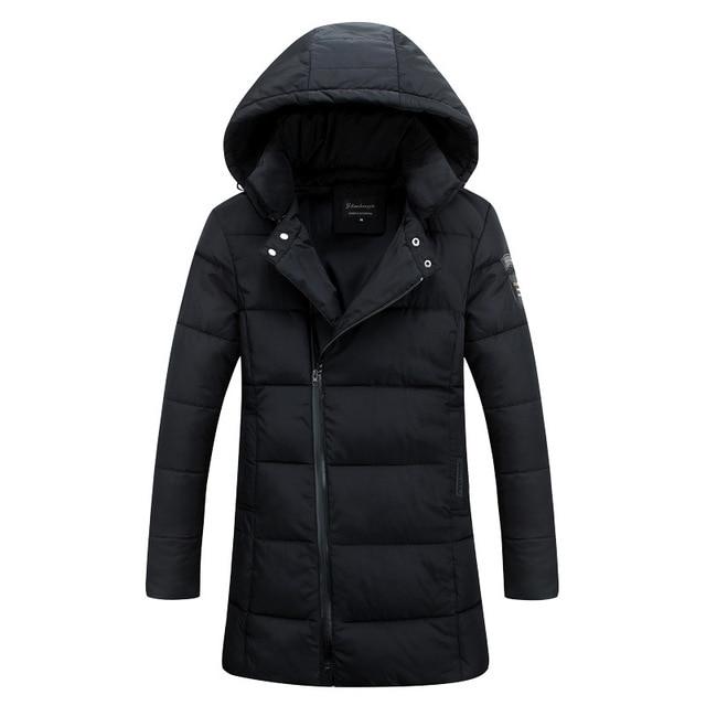 2016 New Long Winter Thickwarm Slim Overcoat Warm Waterproof Cotton Filler Thick Winter Coat Mens