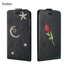 Diamond Flowers Flip Leather Case For Samsung Galaxy A7 A6 A8 plus 2018 A9 Star A2 core Wallet Cover Unique Creativity Handmade(China)