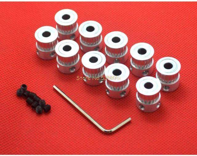10pcs/lot GT2 Timing Pulley 20teeth ( 20 teeth )  Alumium Bore 5mm for width 6mm belt
