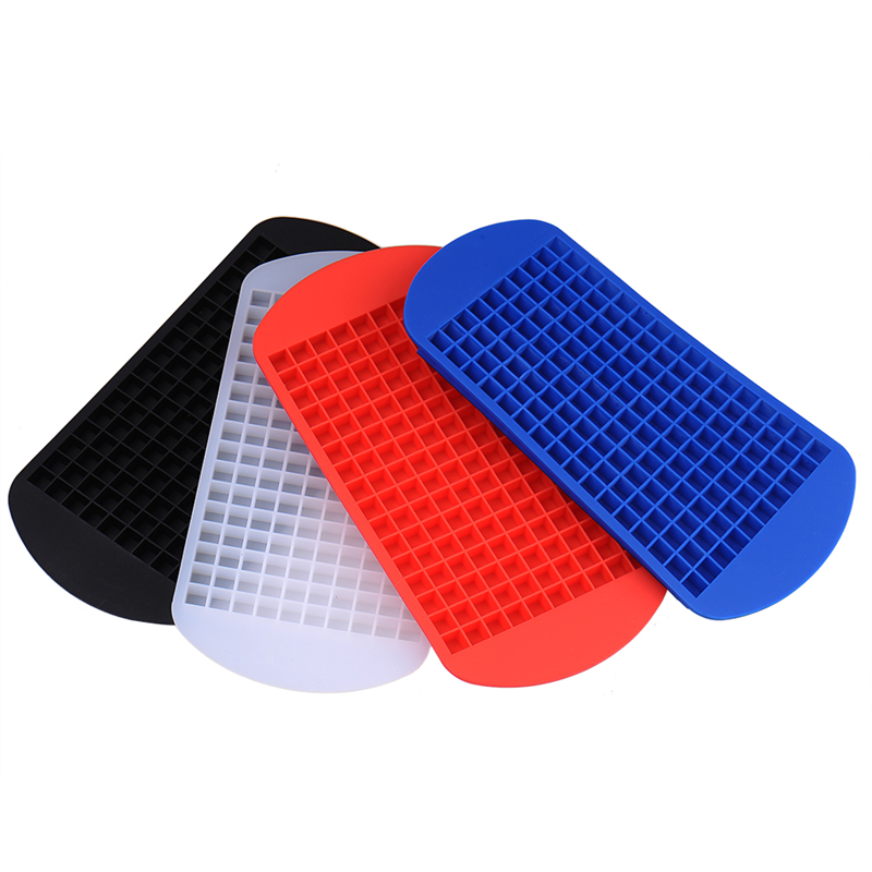 160 Grids DIY Kreative Kleine Eiswürfelform Quadratische Form Silikon Eiswürfelschale Obst Eiswürfel...