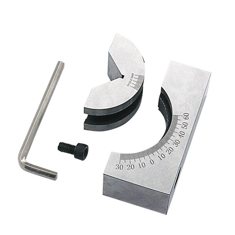Precision Gauge Adjustable Angle V Block Milling Setup 0-60 Degree Angle Block