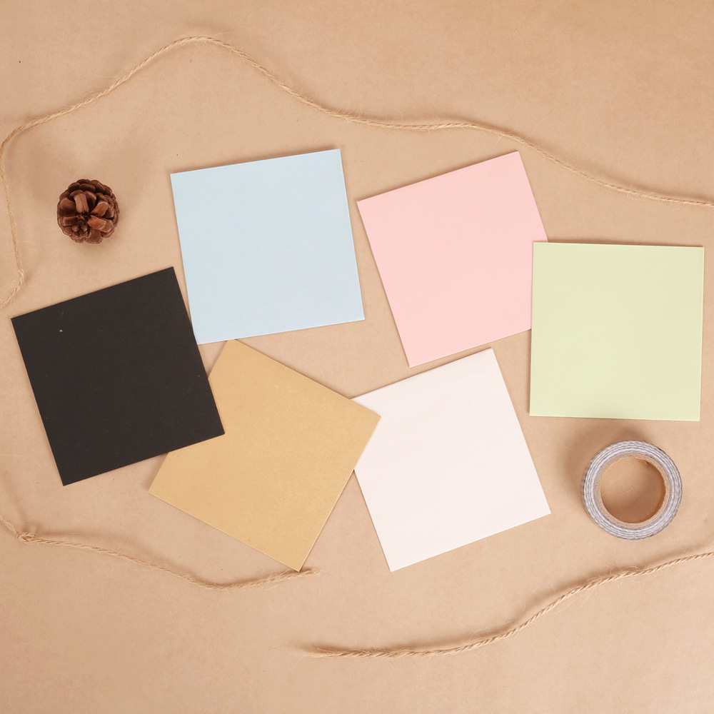 10*10cm 10pcs/lot Creative Blank Kraft Envelope For Card Letter Paper Gift Envelope Simple Color Mini Envelopes For Sticky Note