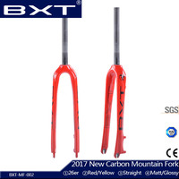 2017 New Carbon Fork MTB For Mountain Bicycle Fork 26er Brand BXT Straight Rigid Carbon Fiber