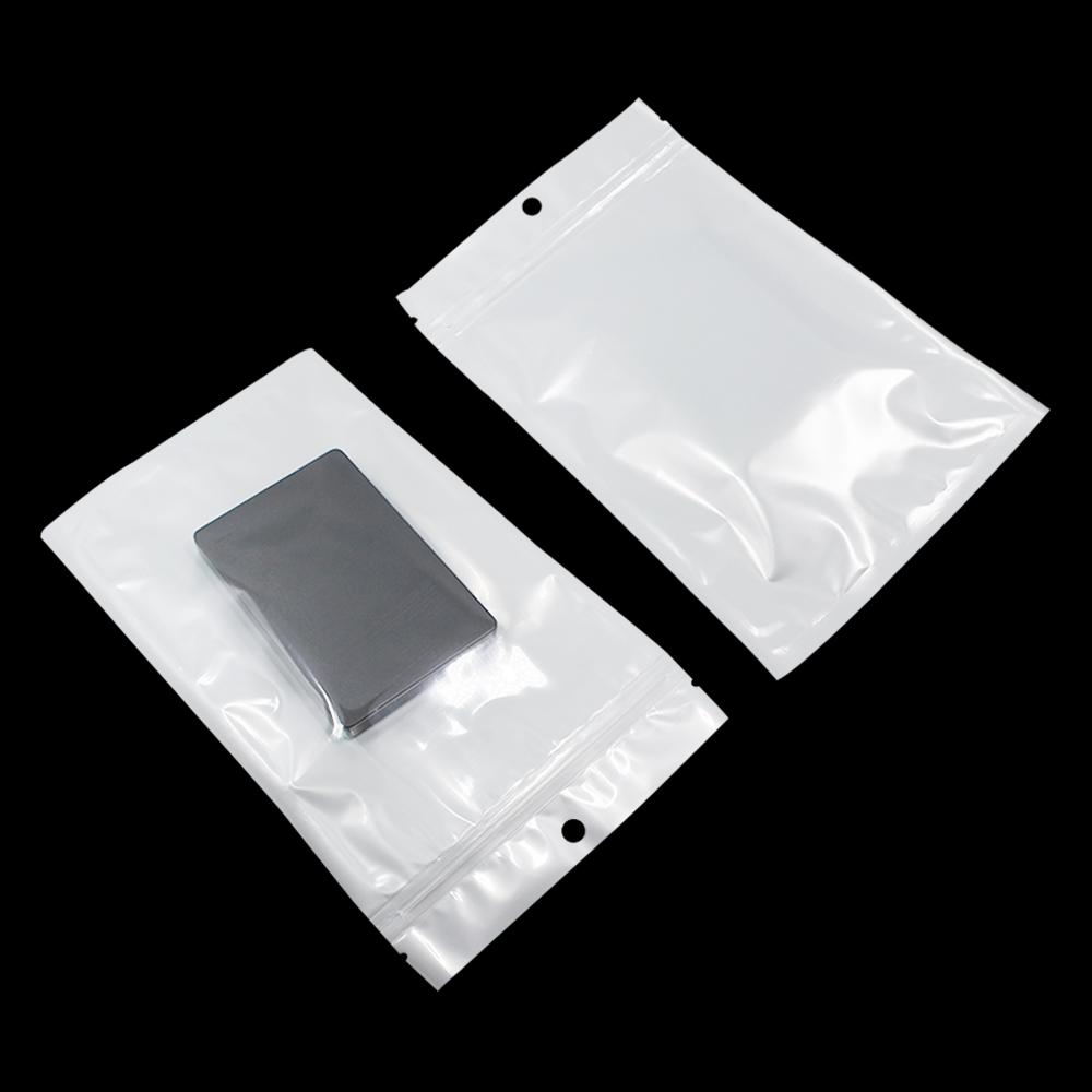DHL 300 Pieces 22x32cm Electronic Accessory Product Package Zip Lock Clear / White Plastic Bags Reclosable Grocery Packing Bag