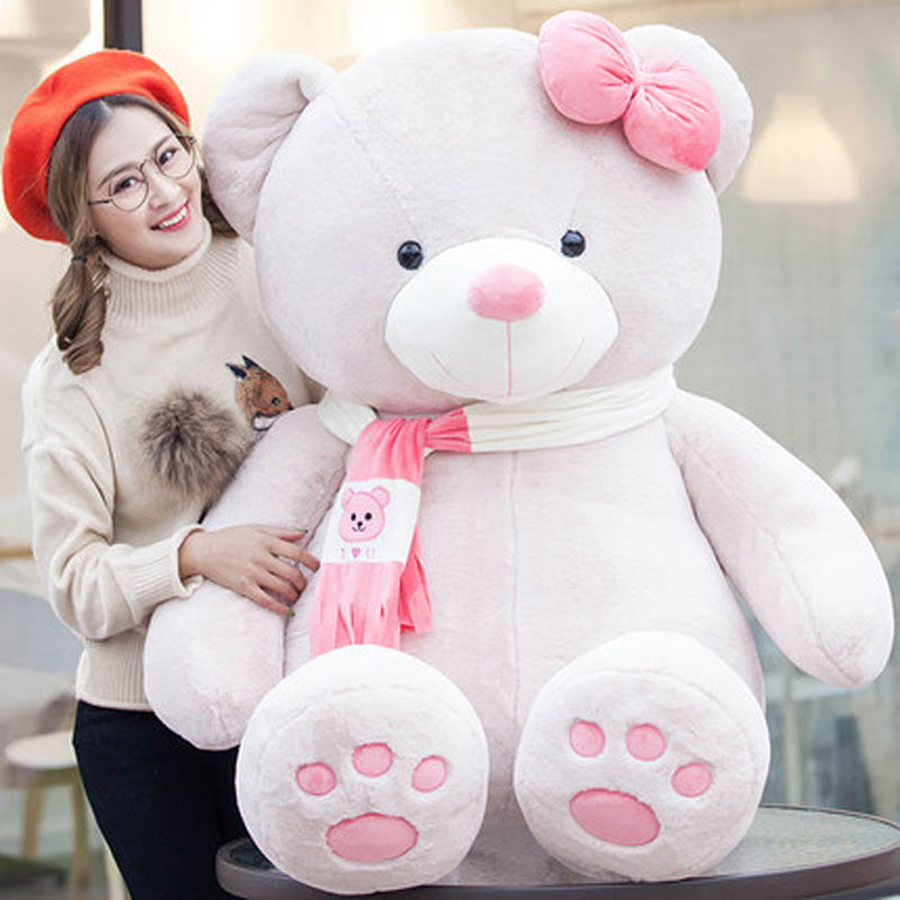 Cartoon Plush Animals Large Teddy Bear Stuffed Toy Cute Pillow Peluches Grandes Birthday Gift Ursos De Pelucia Doll Toy 50G0474 hot sale cute dolls 60cm oblong animals pillow panda stuffed nanoparticle elephant plush toys rabbit cushion birthday gift
