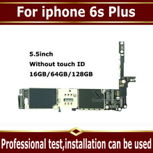 Чистая системная плата iCloud IOS без touch ID для iPhone 6S Plus 6 S Plus 16 Гб 64 Гб 128 ГБ оригинальная разблокированная материнская плата