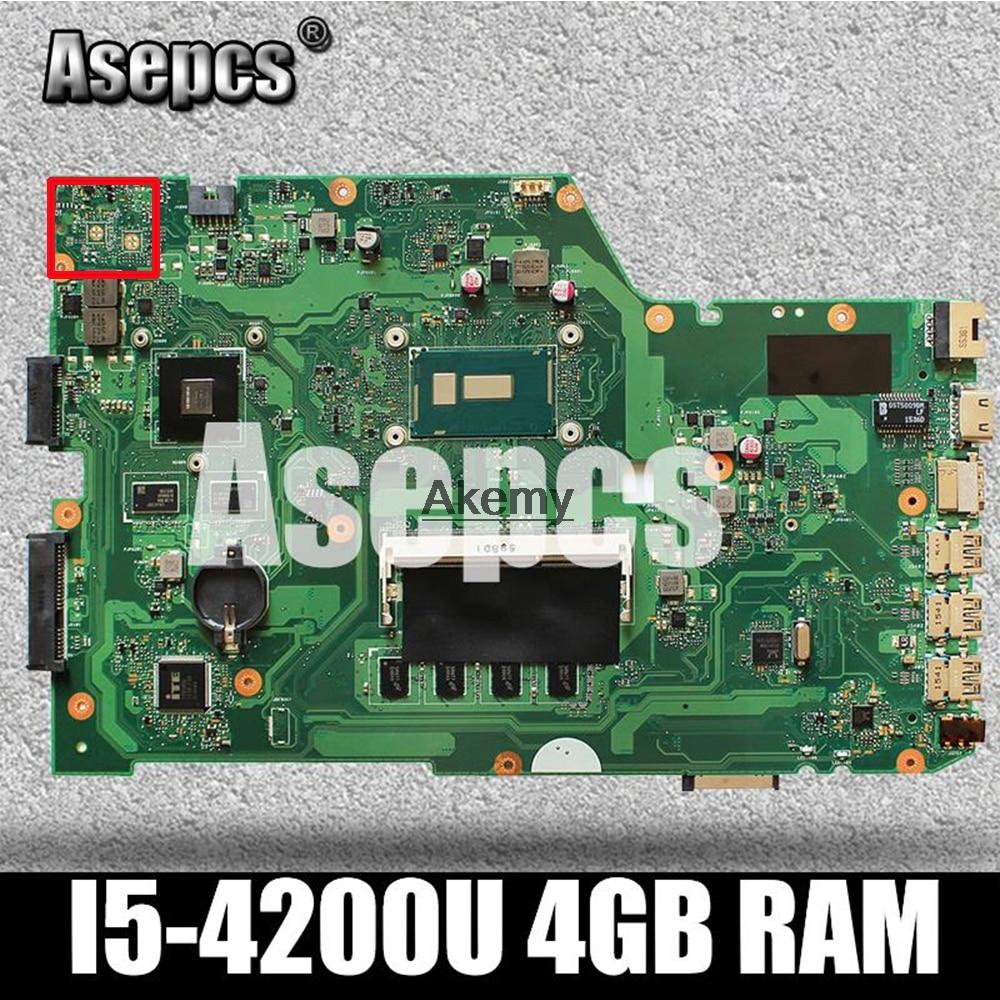 For ASUS X751LK X751L K751L Laptop Motherboard W// I5-4210U 4GB Mainboard GTX850M