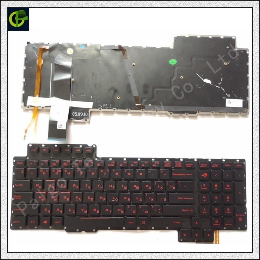 Russian backlit Keyboard for ASUS ROG G752 G752V G752VL G752VM G752VS G752VT G752VY RU 13Z980-M 13Z980-T 13ZD980-G 13ZD980-M new laptop lcd front bezel cover frame for asus 17 3 rog g752 g752v g752vl uh71t g752vs vy vt vm 13nb09y2ap0111 touch screen