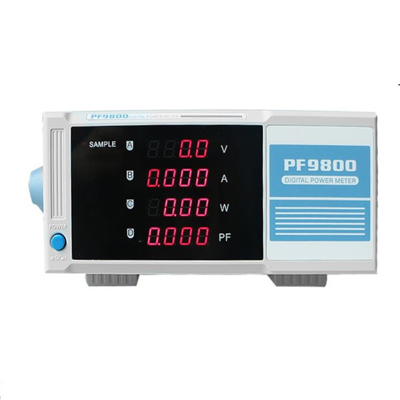 PF9800 Benchtop Digital power meter wattmeter intelligence power analyzer for V/A/W/PF