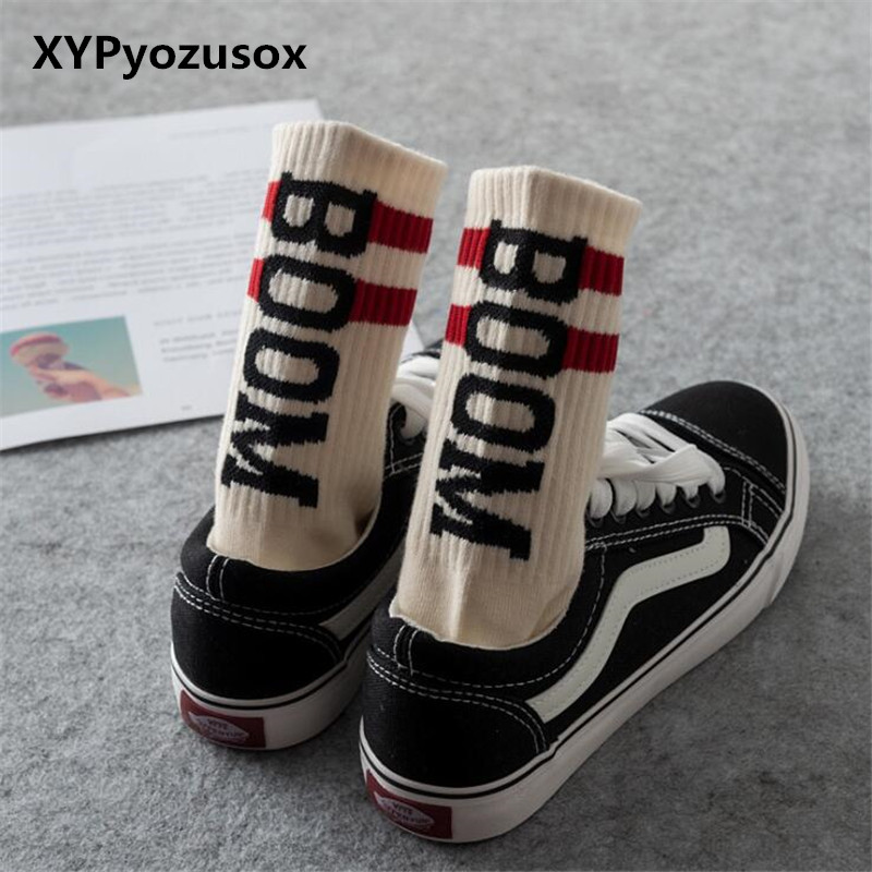 3 Colors Funny Word   Socks   Men Harajuku Letter Printed Hip Hop   Socks   Street Style Skateboard Unisex Crew Happy   Socks   Male Meias