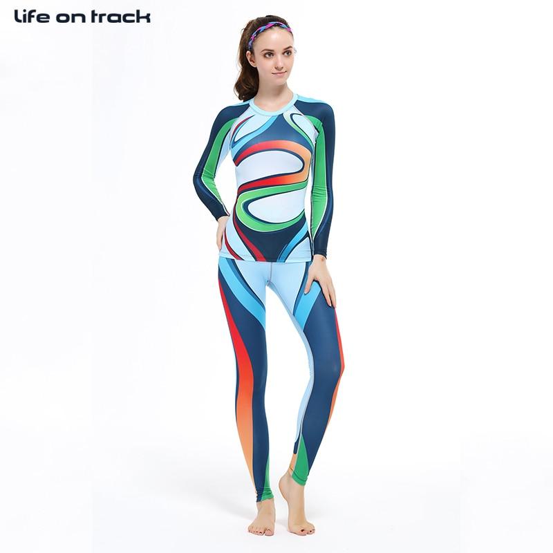 Rrobat e palestrës Gratë për kompresim fizike vendosjen e - Veshje sportive dhe aksesorë sportive