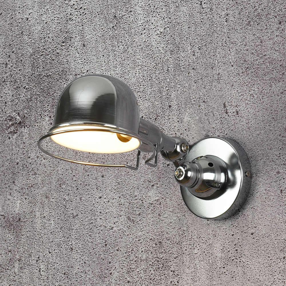 Реплики дизайнером промышленные стиль Механическая Рука Франция Jielde Бра Настенный Светильник Вспоминают Двойной Выдвижной Старинные Складной Стержень лампы настенный светильник спальня  ткань светильник на стену
