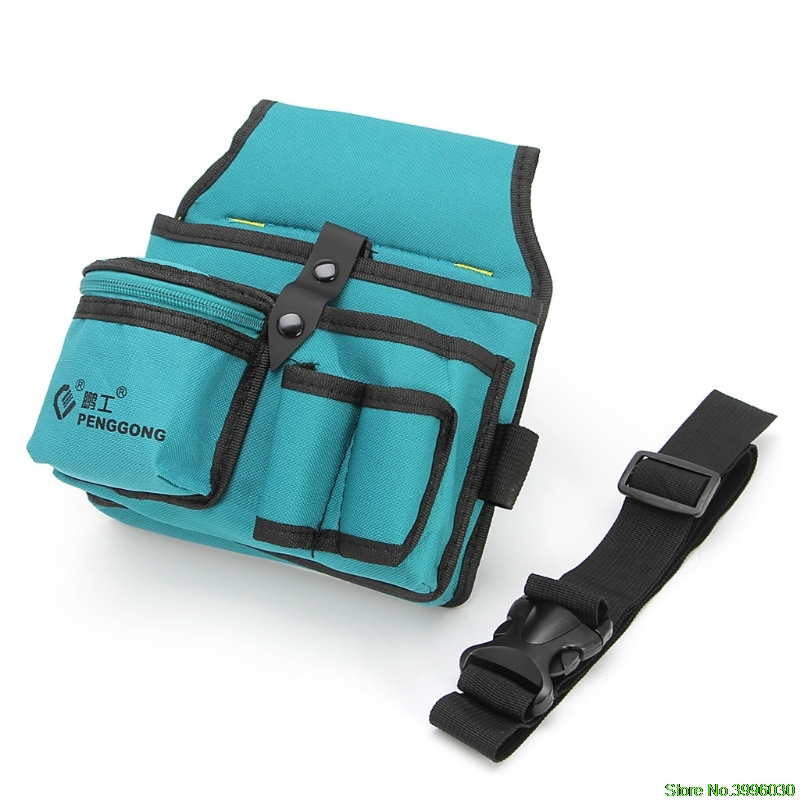Blue 24x20cm Storage Tools Bag Oxford Cloth Multifunctional Waterproof With Strap